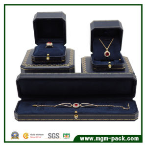 Custom Logo Octagonal Jewelry Box with Gold Foiled pictures & photos