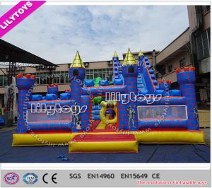 Newest Blue Color Amusement Park Equipment for Kids with Air Pump (Lilytoys-New-040)