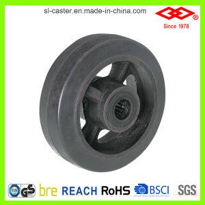 Heavy Duty Black Rubber Castors (P701-42D100X50) pictures & photos