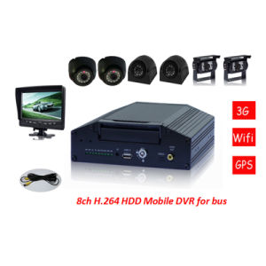 CE Certification Multi-Function 8CH HDD Police Car Mobile DVR with GPS 3G WiFi pictures & photos