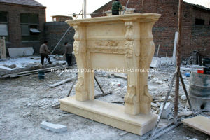 Beige Antique Marble Fireplace for Indoor Decoration Sy-Mf312 pictures & photos