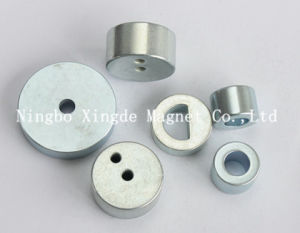 Holes Within Disc Magnet Design Any Kind Shapes with Zinc Coating