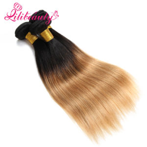 100% Human Ombre Color Straight Virgin Remy Hair pictures & photos
