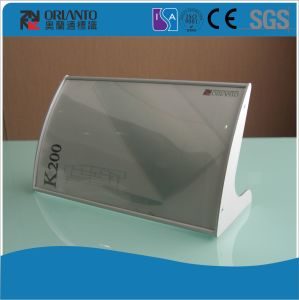 Aluminium Curved Anodized Silver Table Sign pictures & photos