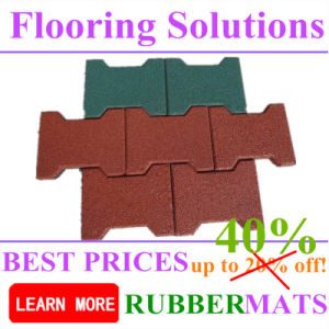 on Sales Dog Bone Shape Rubber Flooring Tiles Cheapest Price pictures & photos