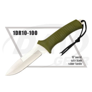 "10"" Overall Green Rubber Handle Dagger for Survival: 1dr10-100 pictures & photos"