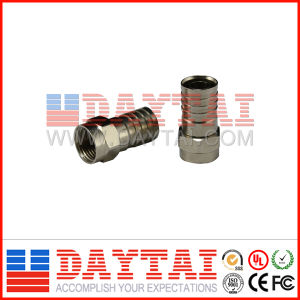 Good Quality Waterproof RG6/Rg59 CATV Crimp Connector pictures & photos