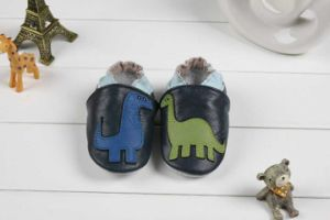 Baby Cow Leather Shoes Soft Sole Prehobbler Shoes (SWBBS6)
