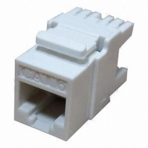 Unshielded 180 Degree CAT6 Keystone Jack pictures & photos