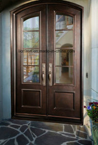 Luxury Artistical Wrought Iron Double Entry Doors for House pictures & photos