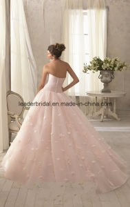 Strapless Ball Gowns Pink Applique Wedding Bridal Dresses Z2011 pictures & photos