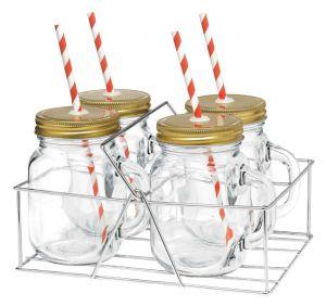 4sets Rack Mason Jar 15oz 16oz Glassware Drinkware pictures & photos