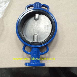 Double Shaft Wafer Butterfly Control Valve for Industrial Use (D71X-10/16)