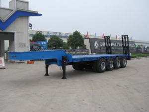 Huawin 4 Axle Low Bed Semi Trailer pictures & photos