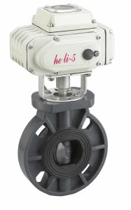 PVC Flanged Butterfly Valve with Actuator pictures & photos