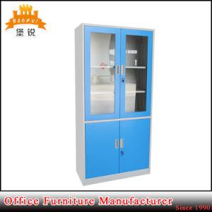 Glass Door Lockable Metal Office Cabinet pictures & photos