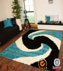 Competitive Price 100% Polyester Area Rugs Contemporary Shaggy Floor Carpet pictures & photos