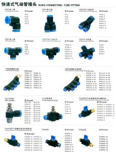 Pneumatic Quick Push in Fittings (PT, R, BSPT, NPT) , Pneumatic Connector pictures & photos