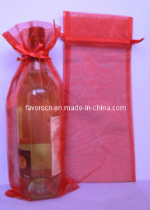 Rectangular Sheer Organza Wine Pouch pictures & photos
