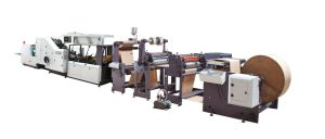 CE Paper Bag Making Machine with Window Patching and Punching pictures & photos
