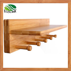 Wall-Mounted Bamboo Rack Coat Hanger pictures & photos