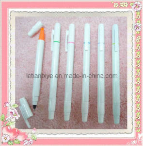 Double-Headed Plastic Pen Highlighter + Ball Pen (LT-A024) pictures & photos