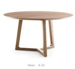 Modern Wood Furniture Round Dining Room Table Set (E-32) pictures & photos