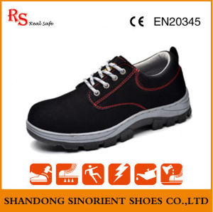 Cheap Suede Leather Upper Rubber Sole Safety Shoes Poland RS377b pictures & photos