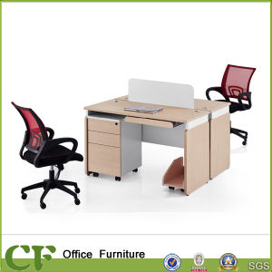 Notebook Computer Desk with Two Seats pictures & photos