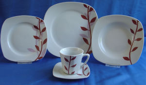 Porcelain Square Dinnerware Set, Tableware Set