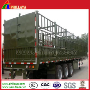 3 Axle50 Tons Livestock Animal Transport Trailer with Tent Crossgirders pictures & photos