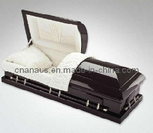 US Style Solid Mahogany Wood Casket (70H0014) pictures & photos
