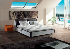 Modern Genuine Leather Bed (SBT-5801) pictures & photos