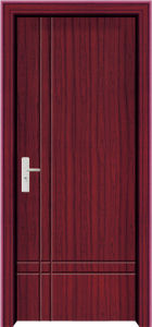 Coated Interior Room PVC Door (WX-PW-117) pictures & photos