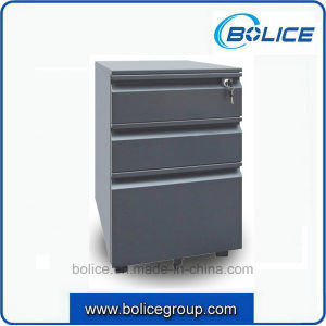 Three Drawers Metal File Mobile Pedestal File Cabinet pictures & photos