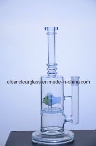 Wholesale Borosilicate Glass Water Pipe Smoking Pipe with Fish-Shaped Perc
