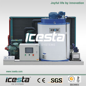 Icesta Flake Ice Machine with PLC and Touch Screen Monitoring System pictures & photos
