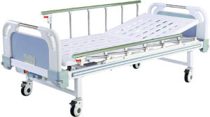 Movable Semi-Fowler Hospital Bed with ABS Headboards B-21-1 pictures & photos