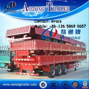 Chine Manufacturer Tri-Axle Side Wall Open Column Board Cargo Truck Trailer pictures & photos
