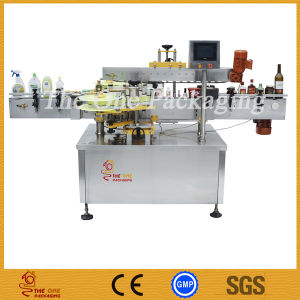 Double Side Labeling Machine/Two Side Flat Bottle Labeler pictures & photos