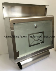Stainless Mailbox with Glass Door (GL-17) pictures & photos