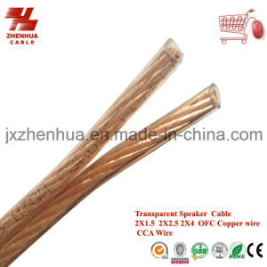 1.5mm 2.5mm 4mm Transparent PVC Speaker Cable Factory pictures & photos