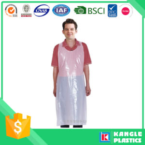Disposable White Polyethylene Apron for Cooking pictures & photos