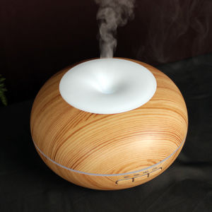 China Supplier Ultrasonic Wooden Aroma Diffuser with Humidifier Feature and Fading Color Display pictures & photos