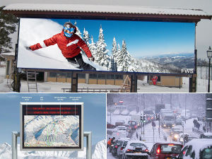 Outdoor Anti-Low Temperature and Energy Saving LED Display (P8 P5 P6 P10) pictures & photos