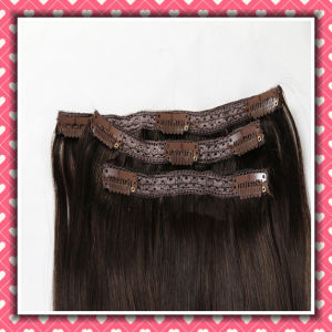 on Sale Grade 8A Clip-in Human Hair Extensions Straight 14inch pictures & photos