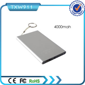 Christmas Gift Slim Thin 4000mAh USB Power Bank pictures & photos