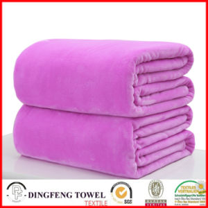 Super Soft Coral Fleece Solid Color Blanket Df-9938 pictures & photos