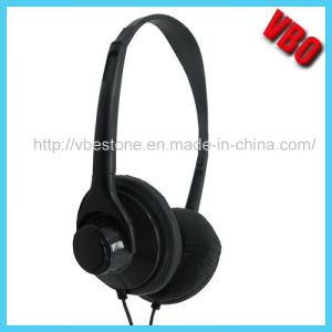2014 New Private Children Headphone Lightweight Airline Headphone with 3.5mm Plug pictures & photos