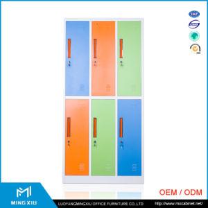 Mingxiu Colorful Changing Room 6 Door Luggage Parcel Locker Metal 6 Door Locker for School pictures & photos